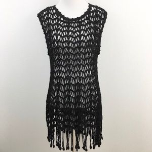Other - 🆕 Beautiful Black open Crocheted CoverUp Dress